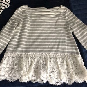 Kate spade Brooke street knit top with lace